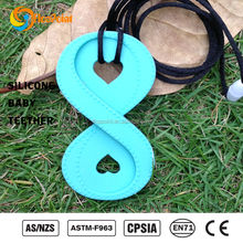 baby products new products 2016 innovative products food grade pendant/silicone teething necklace promotion wholesale