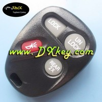 3+1 buttons car key cover for GMC key for jma key blank with battery hold