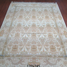 white antique wool carpet handmade wool and silk blend oriental chinese rugs in henan