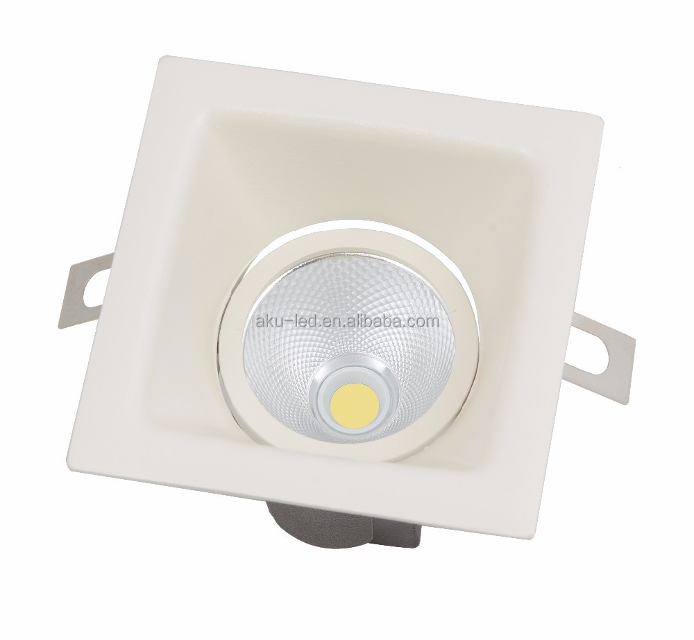 12w Thin Rim Adjustable Square Led Downlight with Cri 97