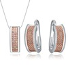 Rhodium cheap necklace and earring sets private label jewelry