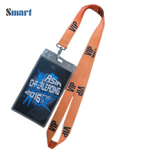 Single Custom Lanyard Id Badge Holder,Polyester Lanyard With Logo Custom