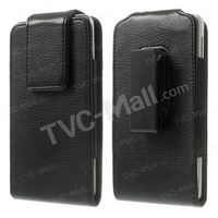 Magnetic Leather Holster Case w/ Swivel Belt Clip for Samsung Galaxy Note 3 N9005