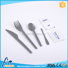 Reusable safe biodegradable kids disposable plastic cutlery
