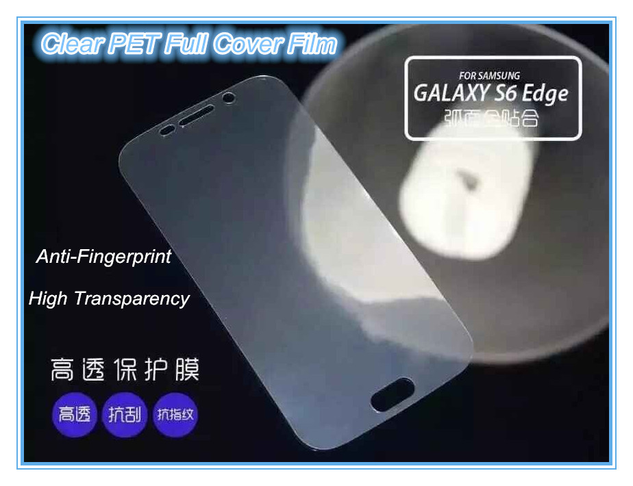 2015 Newest Arrival 3D PET full cover screen protector for samsung galaxy S6 Edge Plus Manufacturer