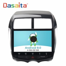 "DASAITA Android 8.0 10.2"" Car radio GPS navigation player multimedia system with 4+32GB Ocat Core Auto stereo for Mitsubish ASX"