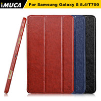 IMUCA case for samsung galaxy TAB S 8.4 leather case for samsung tab s 8.4 book cover with stand