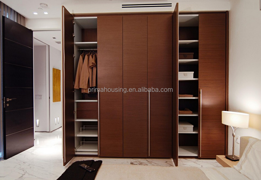 Indian lower price modular bedroom closet wood wardrobe for Cheap bedroom cabinets