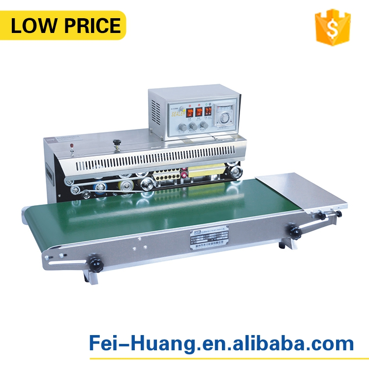 High speed continuous band sealer machine with printing
