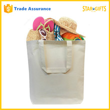 Custom Promotional Giveaway Cheap White Canvas Large Utility Tote Bag