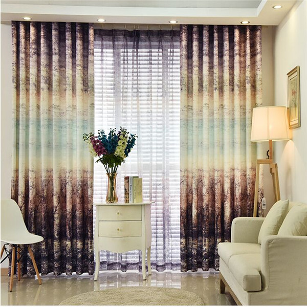 Romantic home used curtains and drapes with yarn