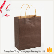 Made in China wholesale high quality fancy paper brown shopping kraft paper bag packaging with handle