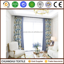 100% polyester leaf design print window curtains