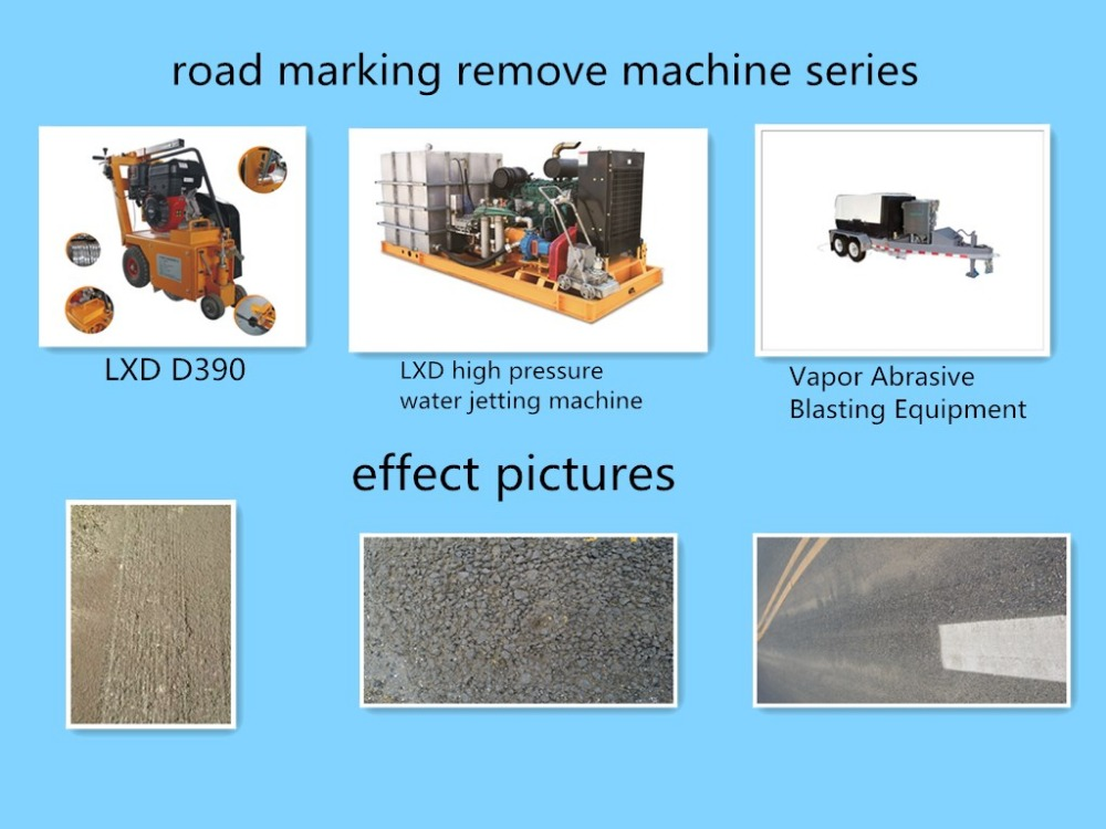 thermoplastic road marking cleaning machine