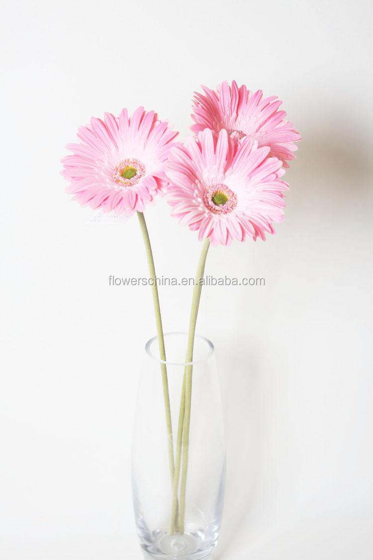Wholesale High Quality Artificial Gerbera Daisy Stem Artificial Silk
