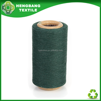 Manufacturer cotton tent knitting fabric yarn green colour HB582 China