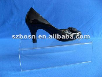 Acrylic Footwear Holder, Acrylic Footwear Support, Acrylic Footwear Riser