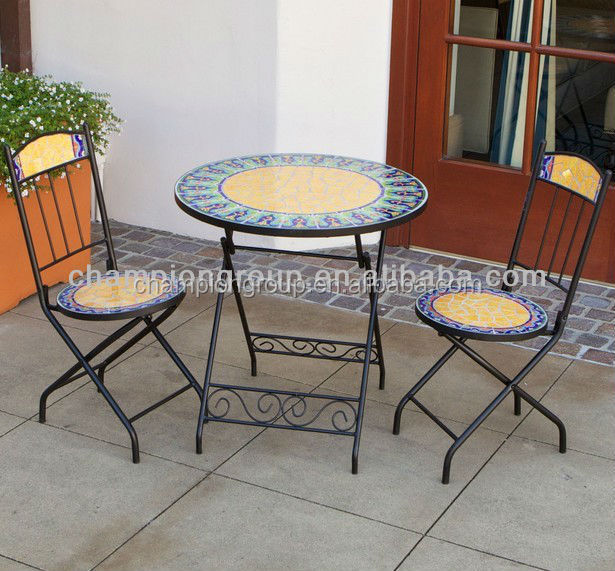 Garden Furniture Mosaic Table And Chair Mosaic Bistro Table And