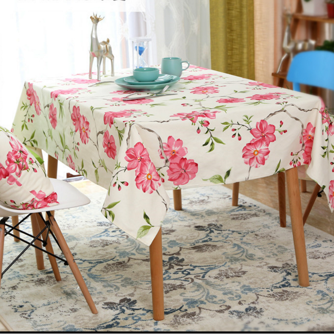 Luxious flower table cloth for sale,table cloth clips,printing design table cloth