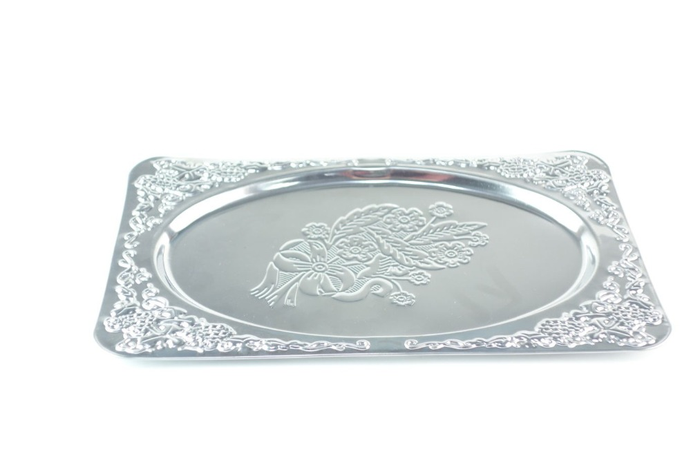 Square Decorative Tray/Stainless Steel Serving Tray /Wedding Cake plates