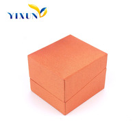 China Manufacturers PU leather Velvet Jewelry Box