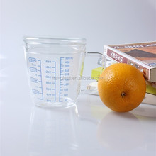 500ml china factory latest design kitchenware borosilicate milk oil glass measuring cup with lid