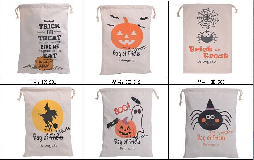 santa sacks canvas Christmas Shopping Bags Festival Gifts Bag Halloween Canvas Bag