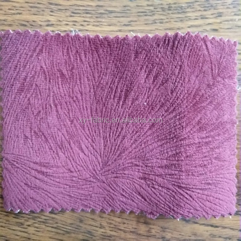2016 hot sale 100%polyester warp knitting burn-out FANTASIA fabric for sofa