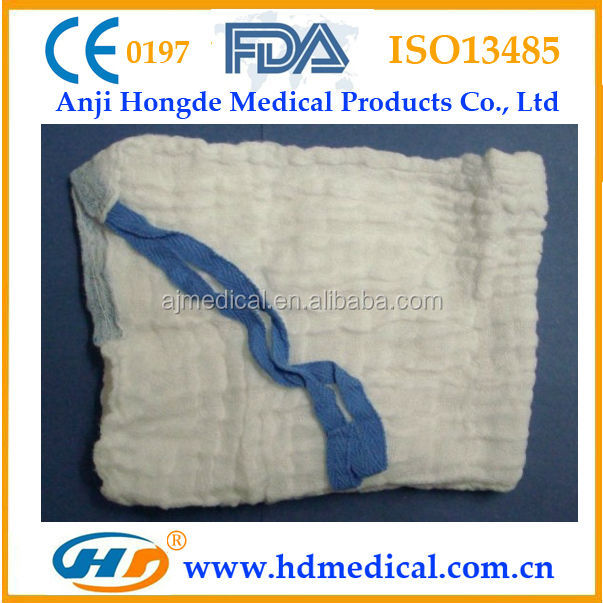 HD-30875 X-ray Detectable Medical Unbleached Lap Sponge for Operation