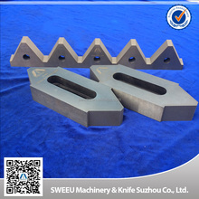 Plastic recycling blades for copper cutting