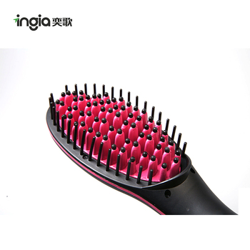 2017 Best Selling Magic Straight Hair Styling Fast Heating Brush Electric