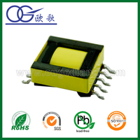 epc13 smd micro transformer for mobile phone charger,pin 4+4,horizontal