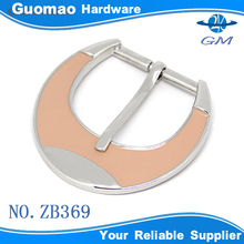 Zinc alloy with pink epoxy purse buckle pin buckle