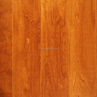 Birch Smooth Surface Engineered Solid Wood Flooring Roller Coating