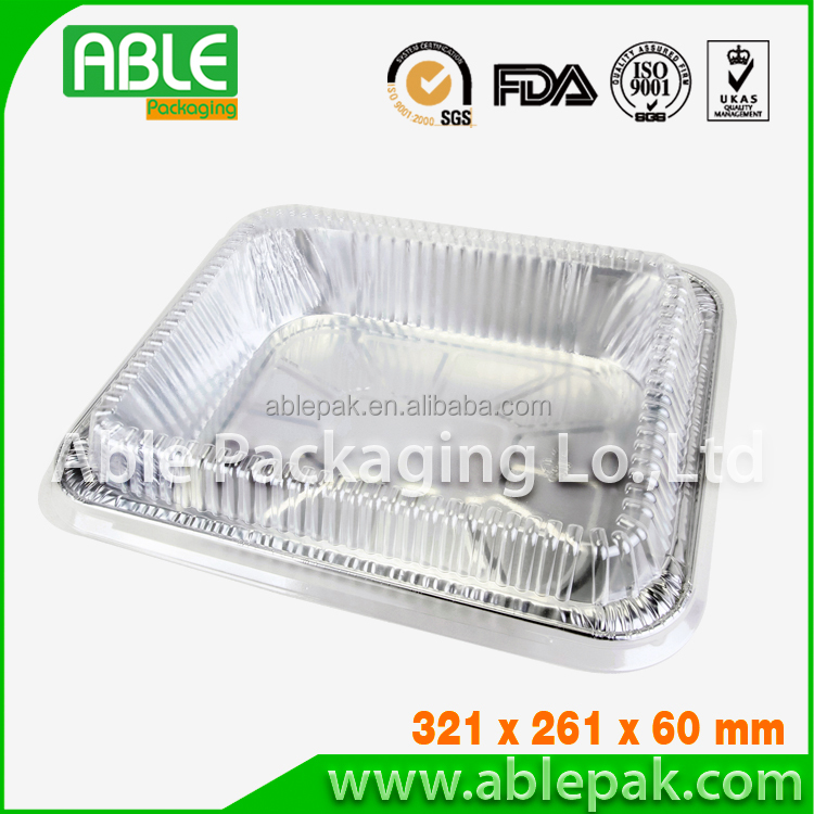 aluminium container, aluminium food container, disposable rectangular aluminium/tin foil tray