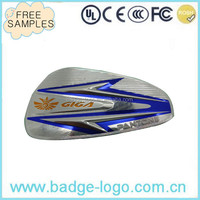 Factory Direct Selling Embossed Logo Nameplate on Motorcycle