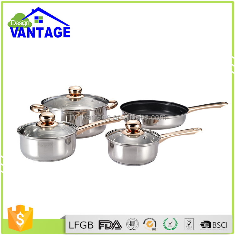 18/20/24cm saucepan/stockpot 12pcs stainless steel home Kitchen appliance cookware pot