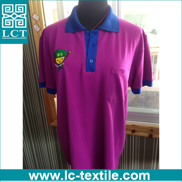 custom embroidered purple color boys polo shirt with pocket