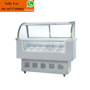 portable ice porridge display cabinet/ cooling display cabinet/ice cream display cabinet