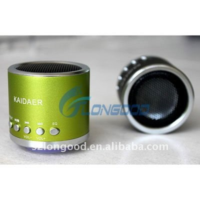 Mini Portable Metal Audio Speaker for MP3 MP4 Laptop Suport TF card and U disk