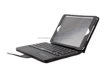 Hot item! Black Color Bluetooth Keybaord +Leather Case Cover for iPad mini