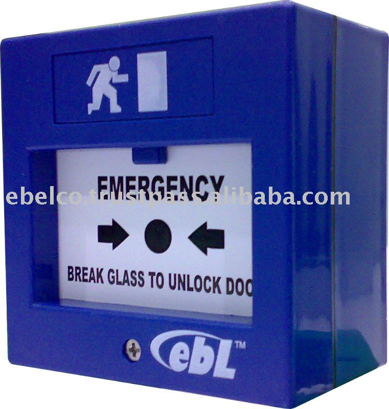 Emergency Door Release, Break Glass, fire emergency break glass