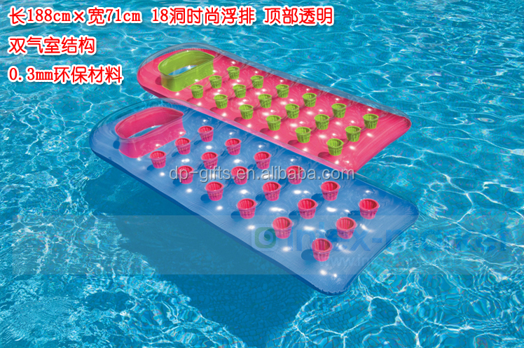 Inflatable Eco-friendly pvc floating AirMattress for beach