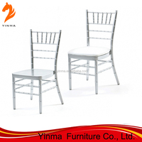 Wedding Tiffany Different Color Iron Aluminum Chiavari Chair With Cushions