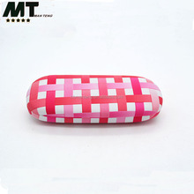 High quality PU leather metal eyeglasses case ,personalized glasses case