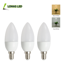 3W plastic E12 E14 E27 B15 B22 LED Candle Light Pointed shape Candle Bulb hot selling factory price LED Bulbs