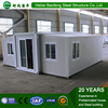 living room prefab expandable flat pack container house