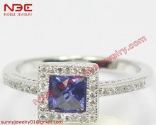 Wax micro setting 925 sterling silver gemstone jewelry