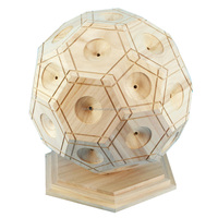2016 New Designed Basketball Shaped Wood Money Saving Box With Stand Base