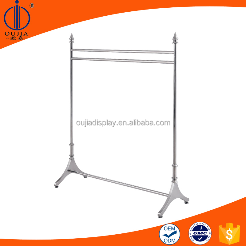 stylish clothes hanging rack/clothing store furniture for display